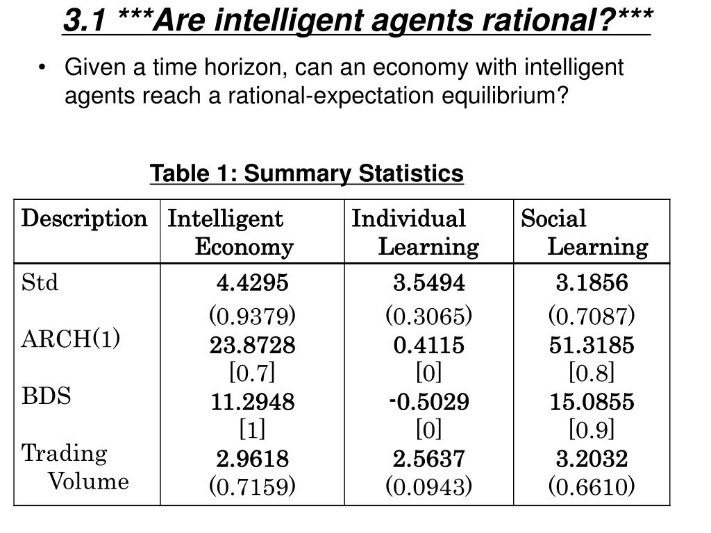 3.1 ***Are intelligent agents rational?***