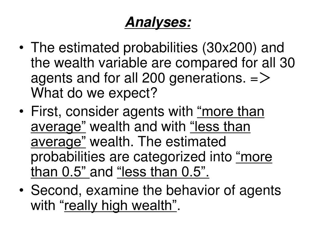 Analyses: