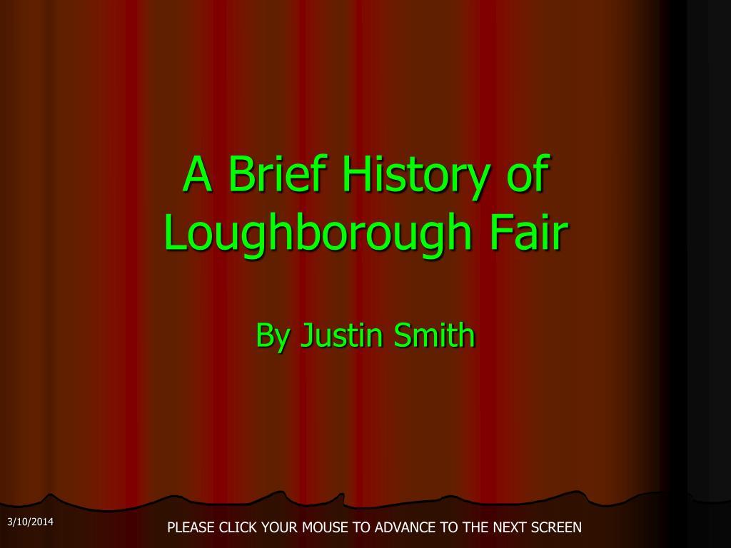 A Brief History of Loughborough Fair