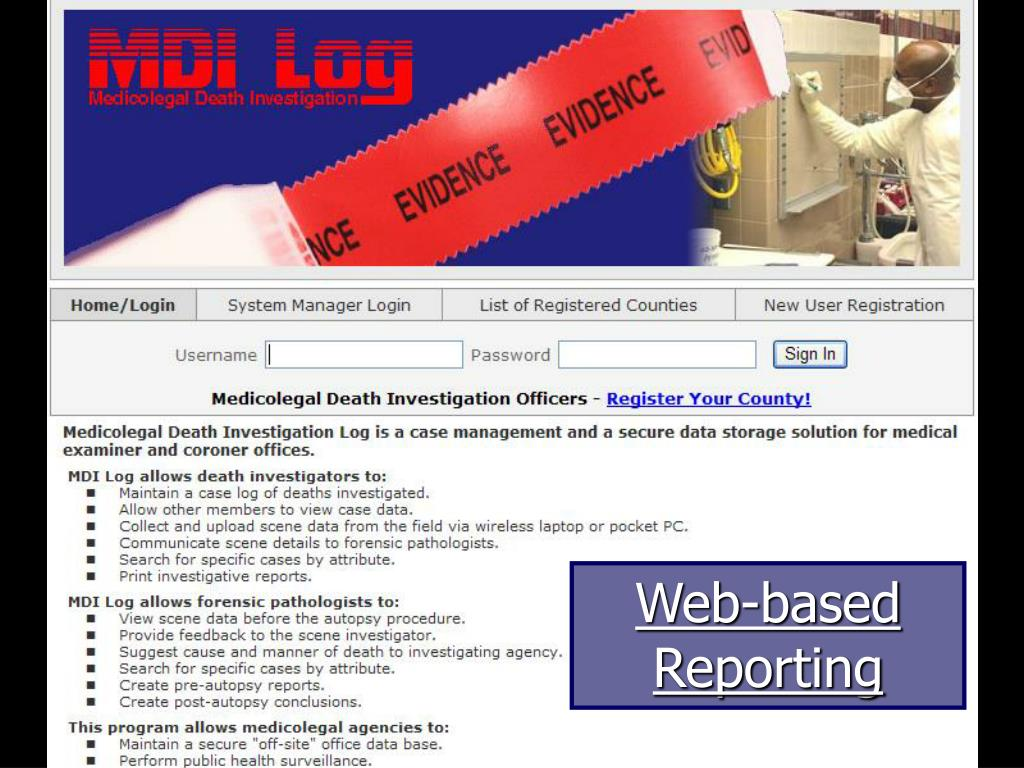 Web-based Reporting