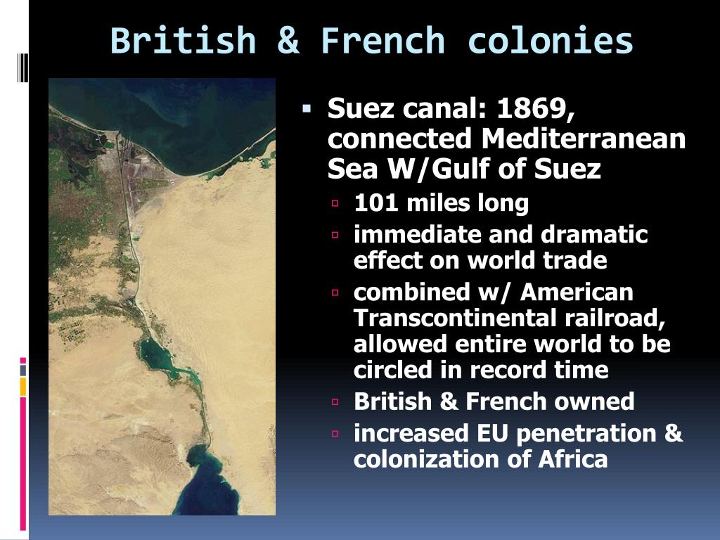 British & French colonies