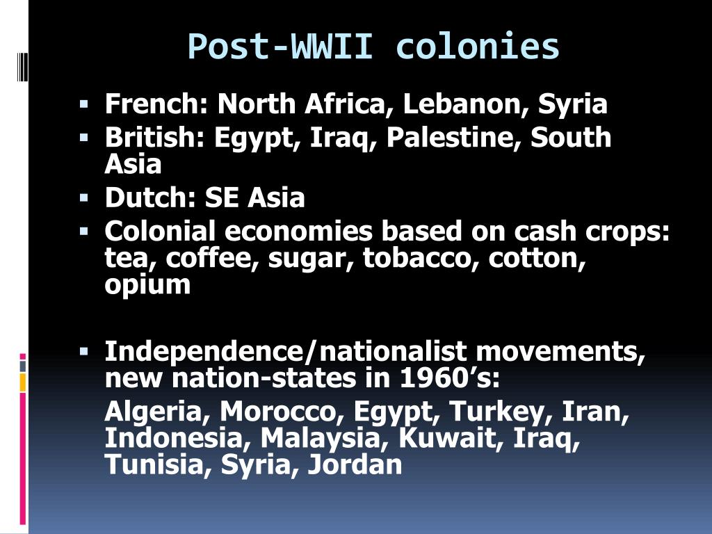 Post-WWII colonies