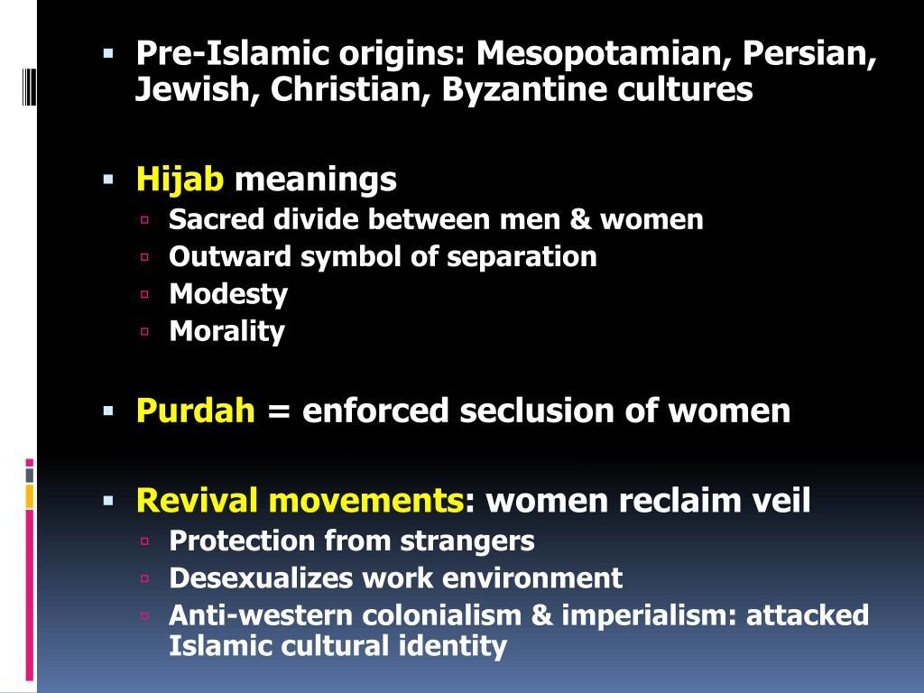Pre-Islamic origins: Mesopotamian, Persian, Jewish, Christian, Byzantine cultures