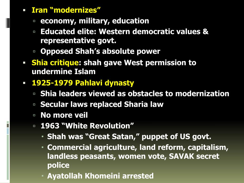 "Iran ""modernizes"""