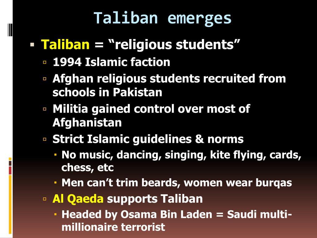 Taliban emerges