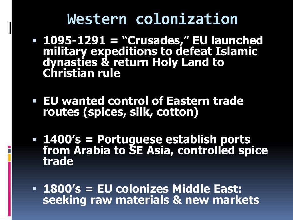 Western colonization