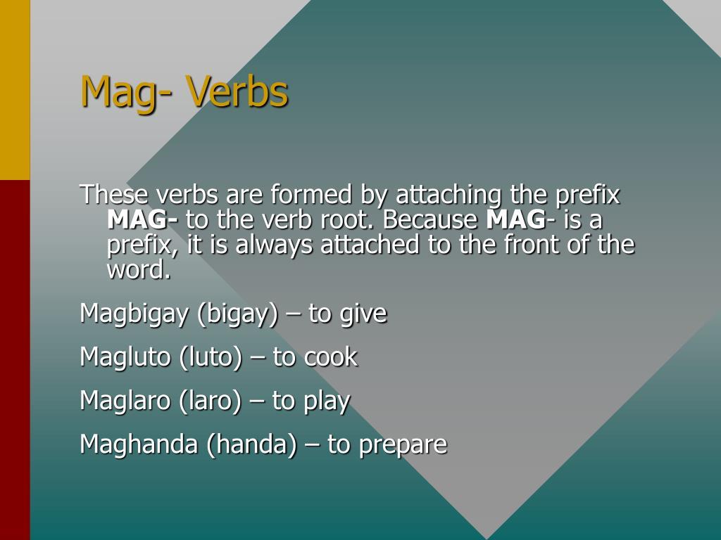 Mag- Verbs