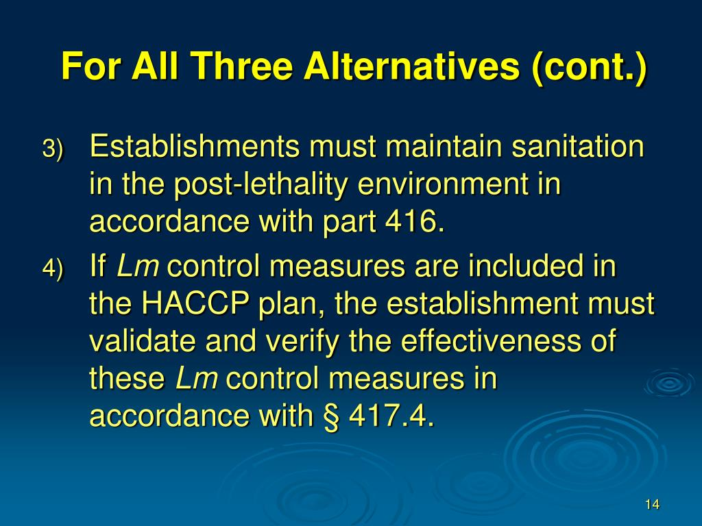 For All Three Alternatives (cont.)