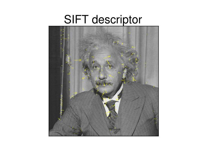 SIFT descriptor