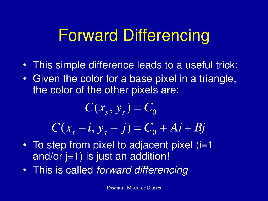 Forward Differencing
