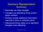 geometry representation summary