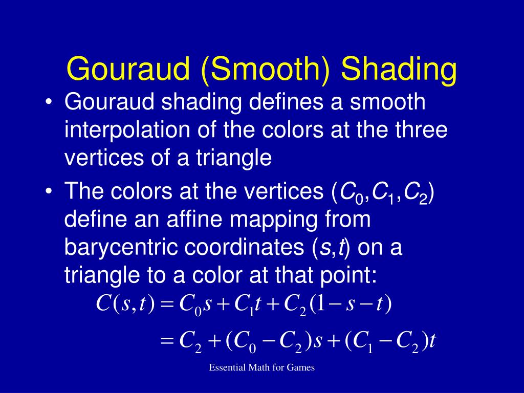 Gouraud (Smooth) Shading