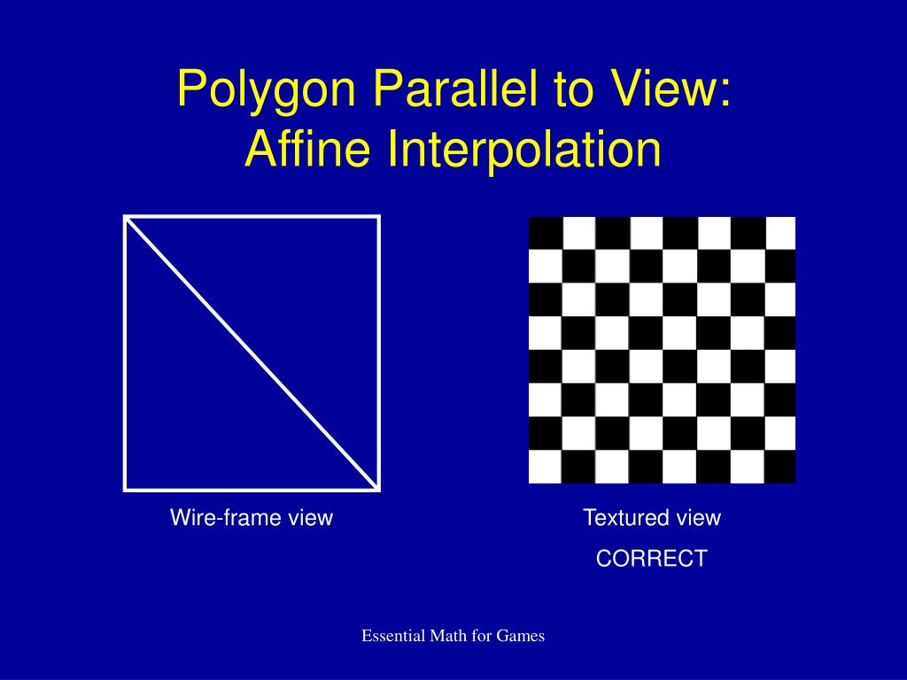 Polygon Parallel to View: