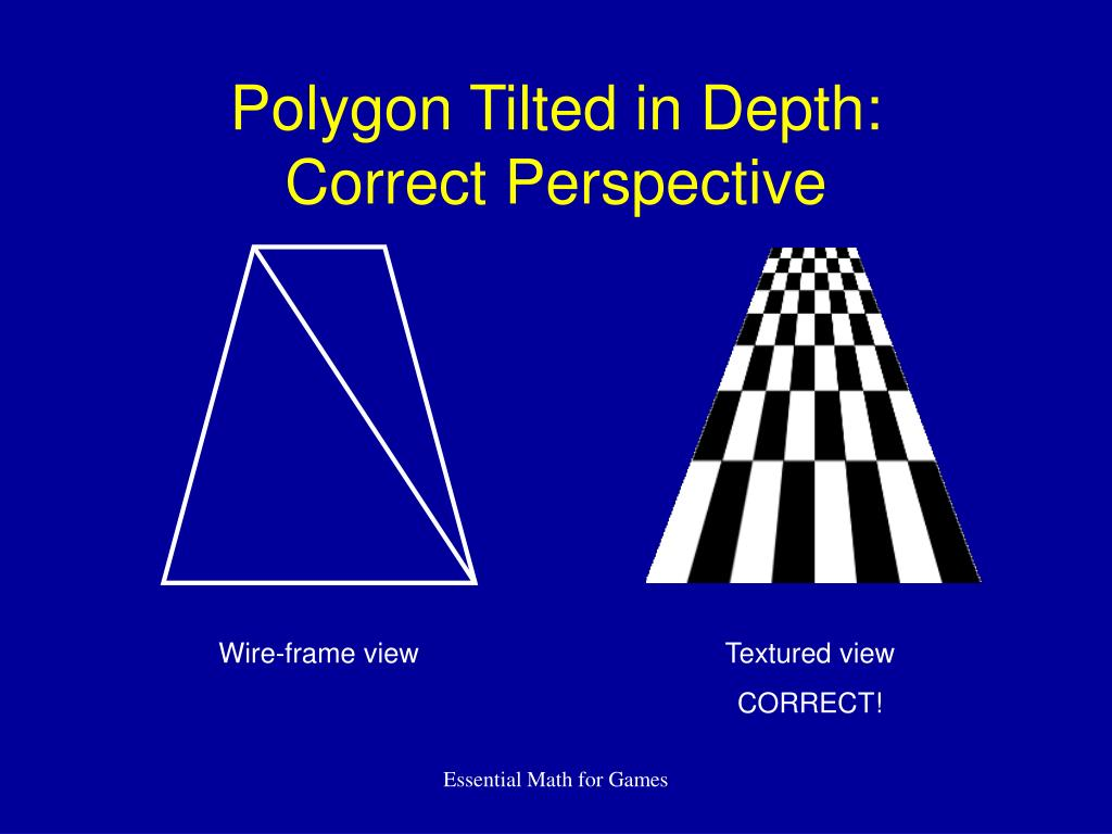 Polygon Tilted in Depth: