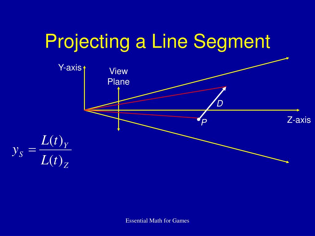 Projecting a Line Segment