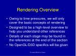 rendering overview