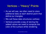 vertices heavy points