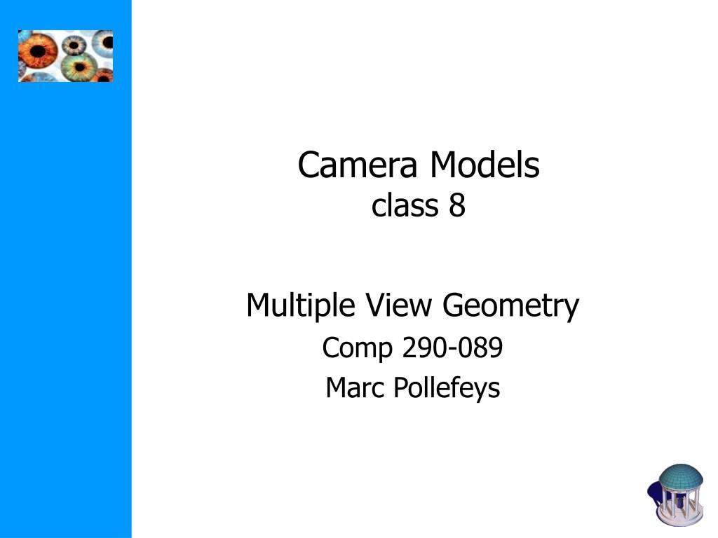 camera models class 8
