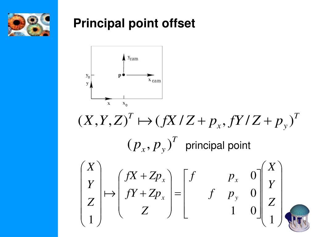 Principal point offset
