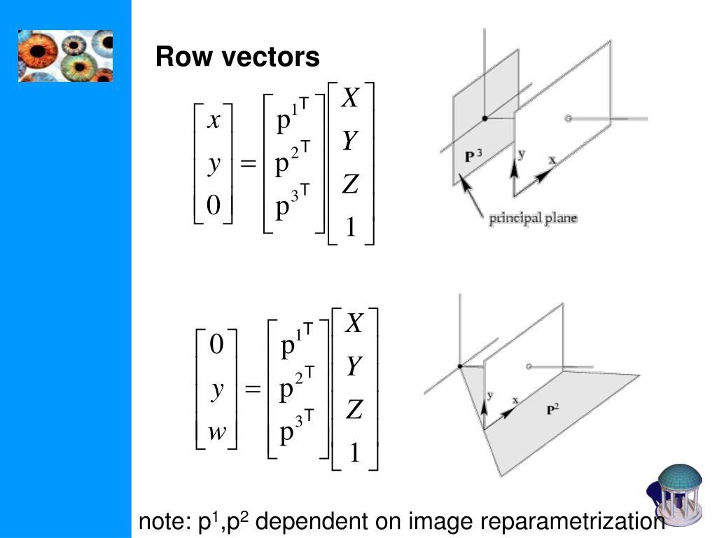 Row vectors