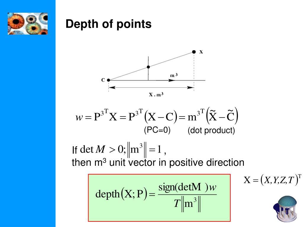 Depth of points