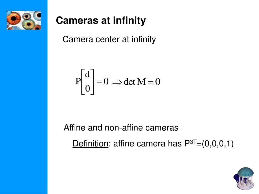 Cameras at infinity