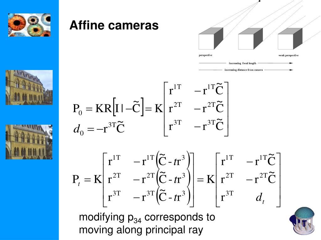 Affine cameras