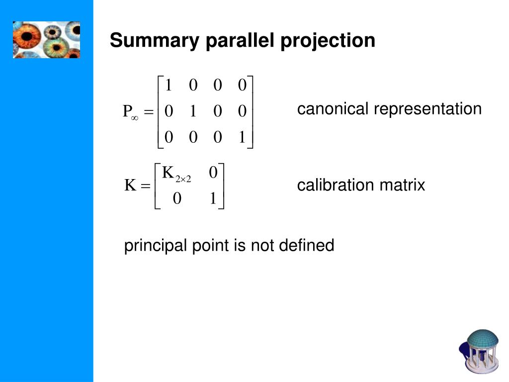 Summary parallel projection