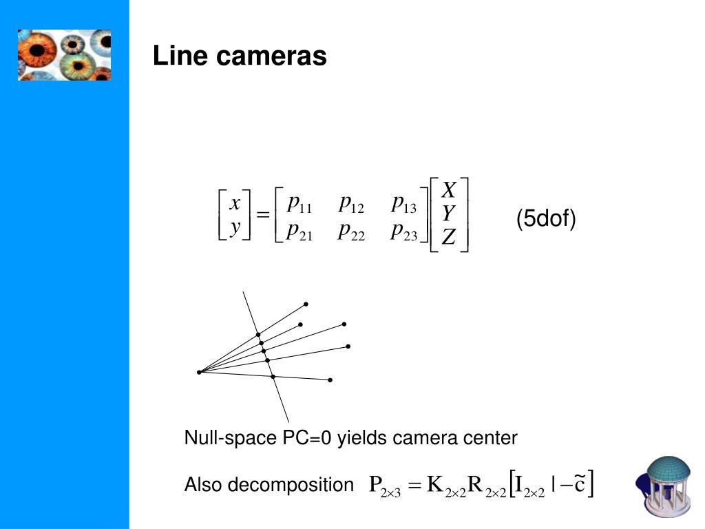 Line cameras
