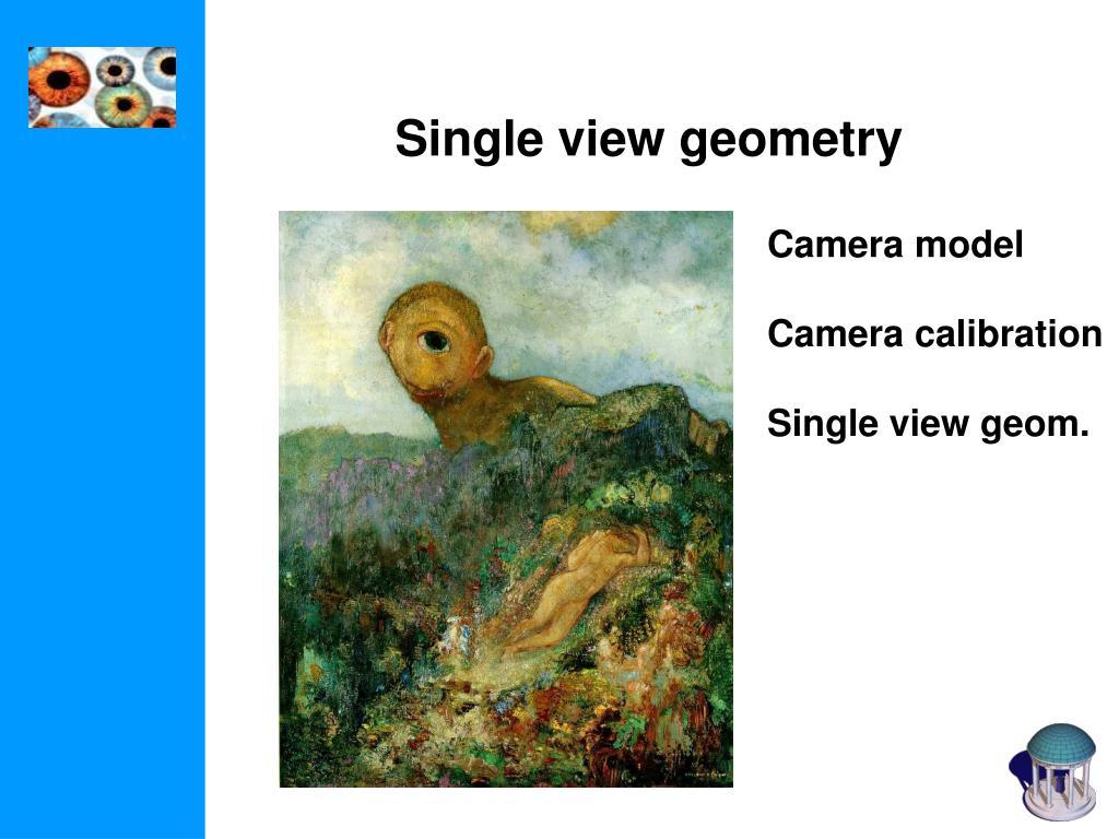 Single view geometry