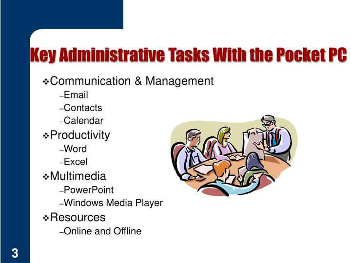 Key Administrative Tasks With the Pocket PC