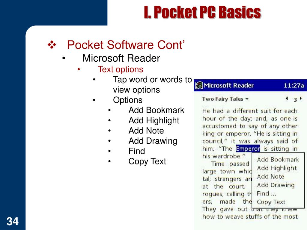 I. Pocket PC Basics