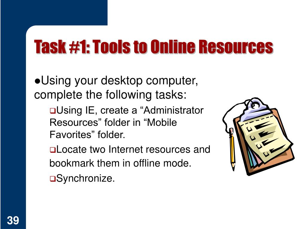 Task #1: Tools to Online Resources