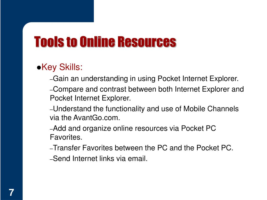 Tools to Online Resources