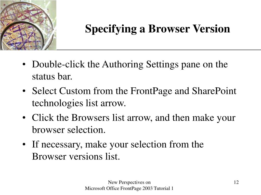 Specifying a Browser Version