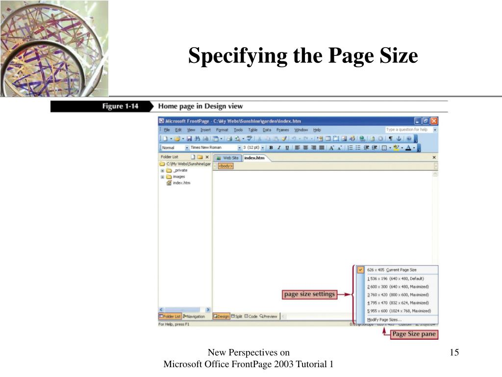 Specifying the Page Size