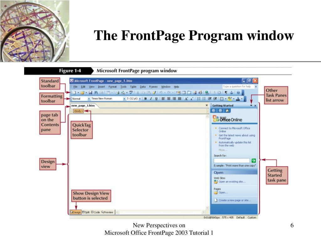 The FrontPage Program window