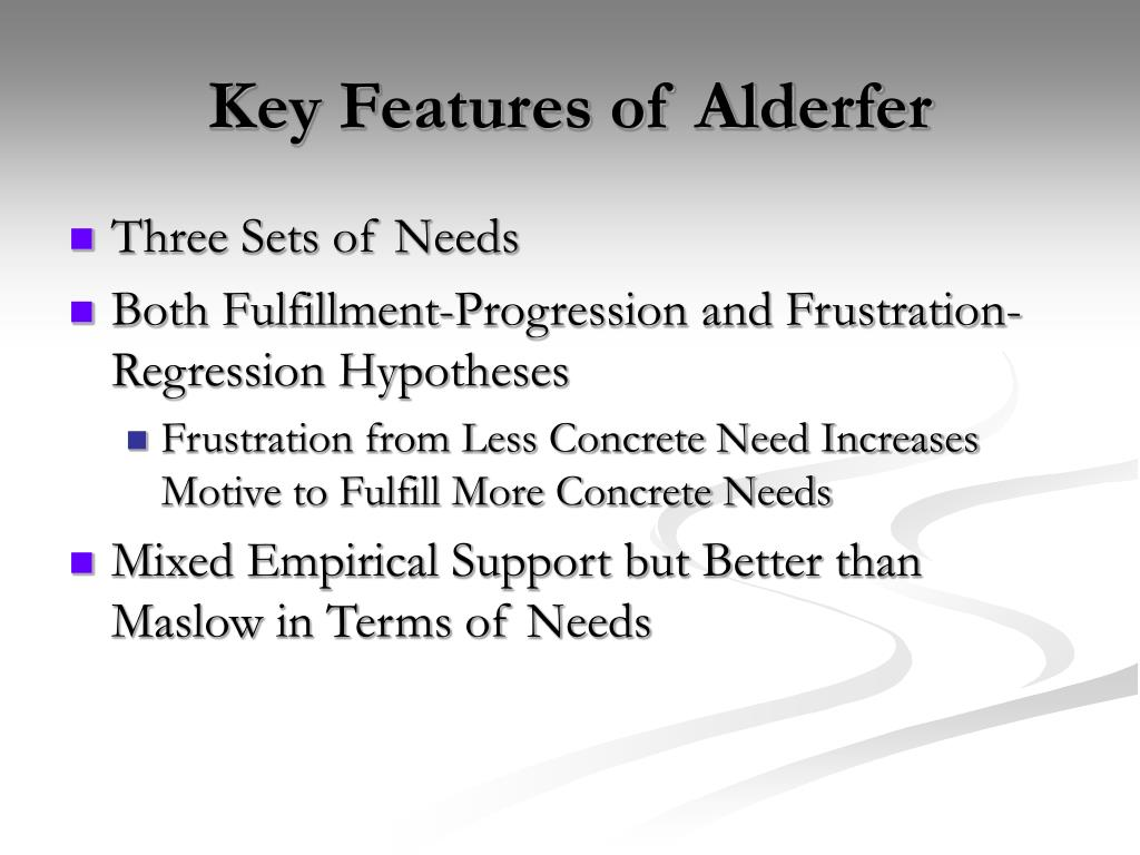 Key Features of Alderfer