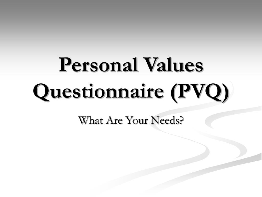 Personal Values Questionnaire (PVQ)