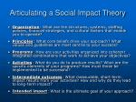 articulating a social impact theory