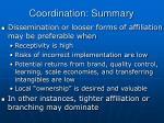 coordination summary