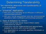 determining transferability