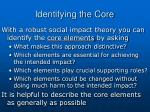 identifying the core