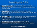 revisiting the 5 r s
