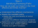 step 3 identifying promising paths