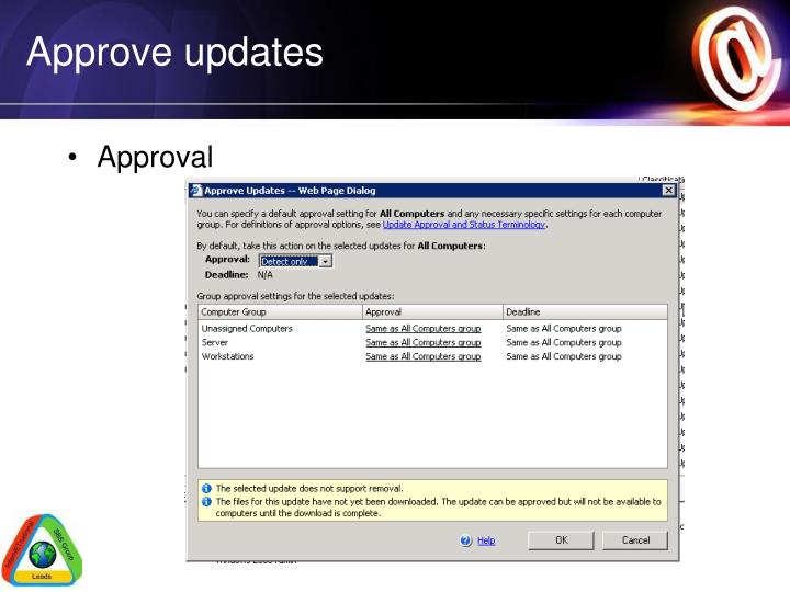 Approve updates