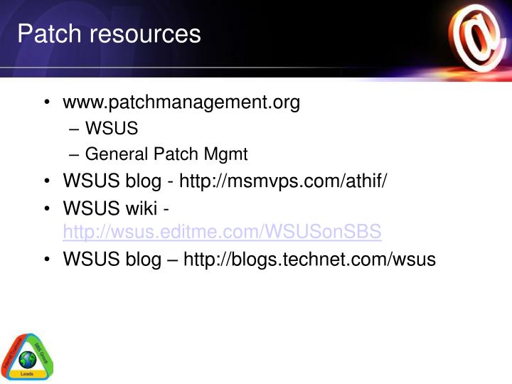 Patch resources