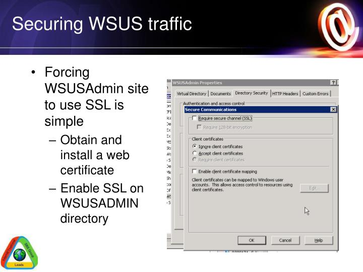 Securing WSUS traffic
