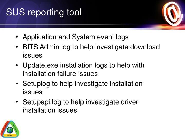 SUS reporting tool