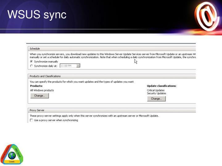 WSUS sync